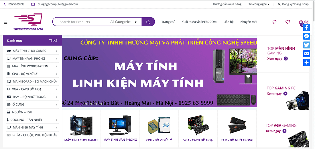 WEBSITE SPEEDCOM.VN