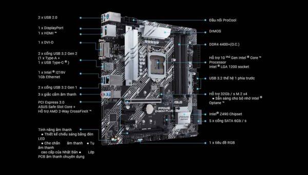 Mainboard ASUS PRIME Z490M-PLUS
