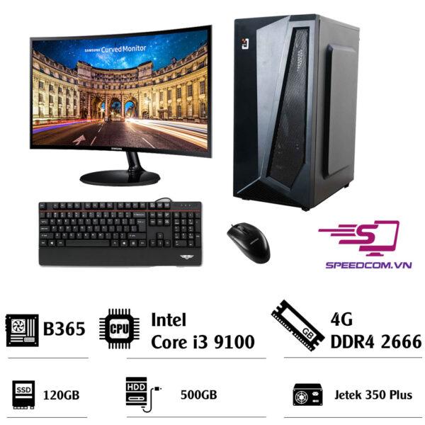 Bộ máy tính B365- I3 9100- Ram 4GB- SSD 120GB- HDD 500G